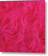 Pink Plush Fabric Metal Print