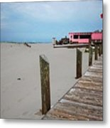 Pink Pony And Boardwalk Metal Print