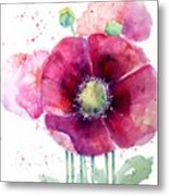 Pink Poppies Metal Print