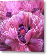 Pink Poppy Splash Metal Print