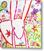 Pink Rabbit Metal Print