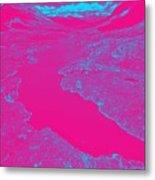 Pink River Metal Print