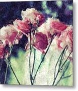Pink Rose Flowers Metal Print