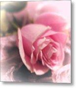 Pink Rose Macro Abstract 1 Metal Print