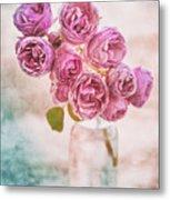 Pink Roses Beauty Metal Print