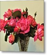 Pink Roses Bouquet 2 Metal Print