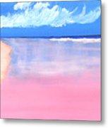 Pink Sand In Harbor Island - Bahamas Metal Print