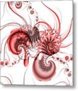 Pink Shrimp Metal Print