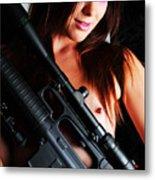 Pink Sniper Metal Print
