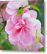 Pink Swirl Garden Metal Print by Shelley Irish