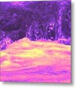 Pink Tidal Pool Metal Print