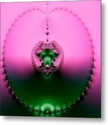 Pink Topaz And Emerald Green Necklace Fractal Metal Print