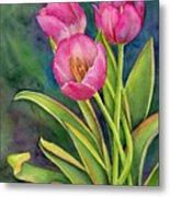Pink Tulip Twist Metal Print