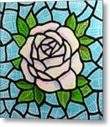 Pinkish Rose Metal Print