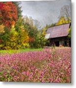 Pinks In The Pasture Metal Print
