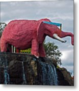 Pinky The Elephant At Cape Canaveral Metal Print