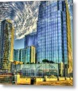 Pinnacle Building Sunset Nashville Shadows Nashville Tennessee Art Metal Print