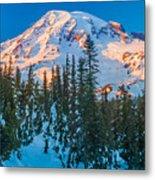 Pinnacle Saddle Winter Metal Print