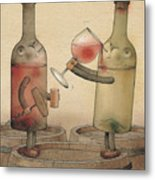 Pinot Noir And Chardonnay Metal Print