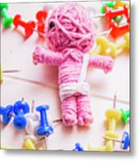Pins And Needles Mummy Voodoo Doll Metal Print