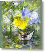 Pintail Pond Metal Print