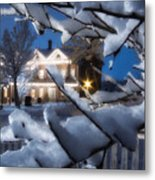 Pioneer Inn At Christmas Time Metal Print