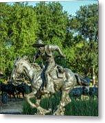 Pioneer Plaza Cattle Drive Monument Dallas Metal Print