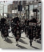 Pipe Band Highland Games Scotland Metal Print
