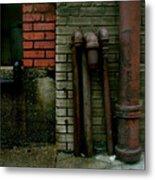 Pipe  Bricks Metal Print
