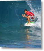Pipeline Masters Champion Metal Print by Kevin Smith