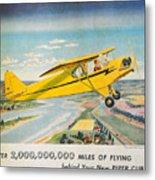 Piper Airplane  Metal Print