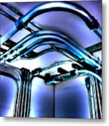 Pipes In Third Dimension Metal Print