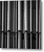 Pipes Metal Print