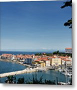 Piran Slovenia Gulf Of Trieste On The Adriatic Sea From The Punt Metal Print