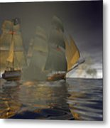 Pirate Attack Metal Print