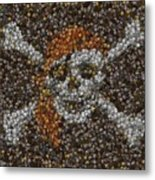 Pirate Coins Mosaic Metal Print