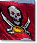 Pirate Football Metal Print