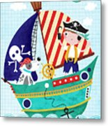 Pirate Of The Carribean Metal Print
