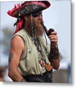 Pirate Peanut Island Florida Metal Print