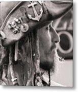 Pirate Profile Metal Print