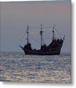 Pirate Ship At Clearwater Metal Print