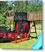 Pirate Ship Playhouse Wood Pirate Ship Playhouses Metal Print