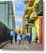 Pirate's Alley Wedding 2 - Paint Metal Print