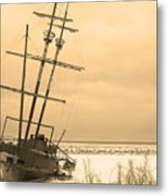 Pirates In The Harbour Metal Print
