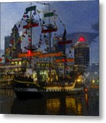 Pirates Plunder Metal Print