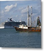 Pirate's Pride In Port Canaveral Metal Print