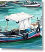 Pirogue Fishing Boat  Metal Print