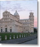 Pisa Sunset Metal Print