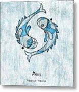 Pisces Artwork Metal Print