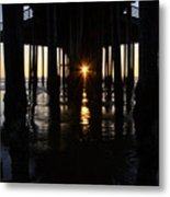 Pismo Beach Pier California 7 Metal Print